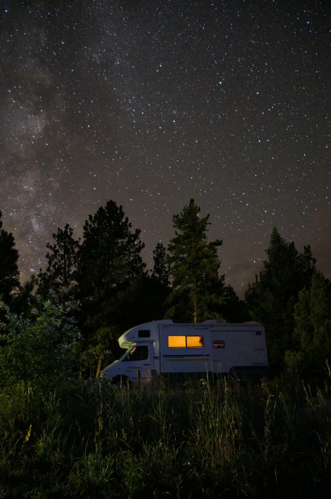 Night sky RV